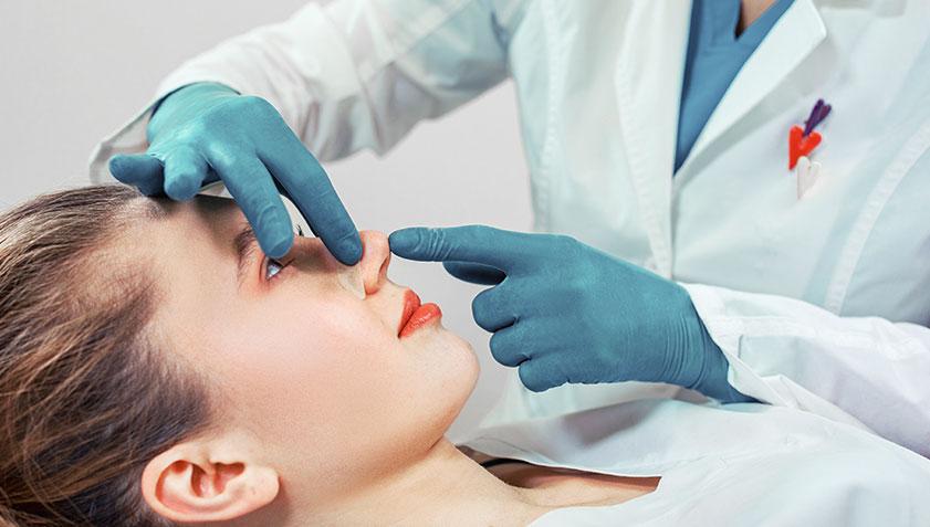 Operación de naríz para levantamiento de nariz o corregir nariz ancha